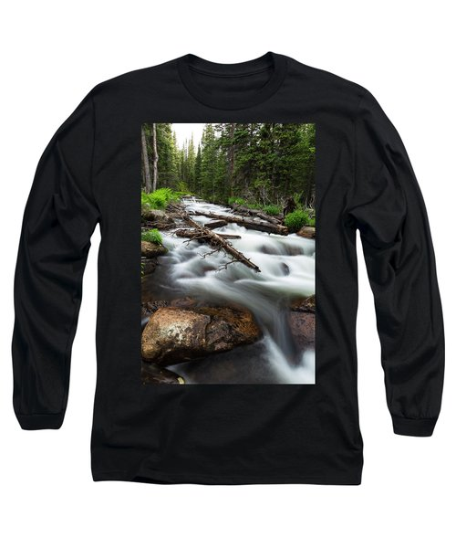 Long Sleeve T-Shirt featuring the photograph Magic Mountain Stream by James BO Insogna