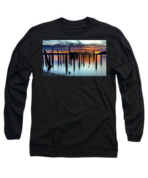 Magical Sunset Titlow Beach Tacoma Wa Long Sleeve T-Shirt