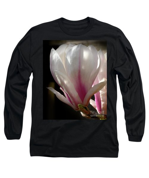 Long Sleeve T-Shirt featuring the photograph Magnolia Bloom by Stephen Melia