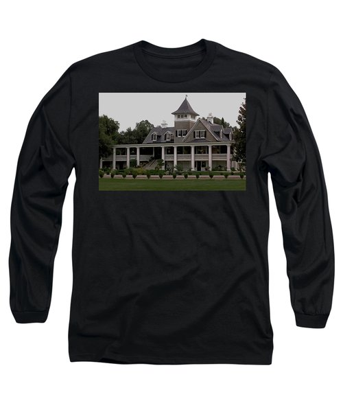 Magnolia Plantation Home Long Sleeve T-Shirt by DigiArt Diaries by Vicky B Fuller