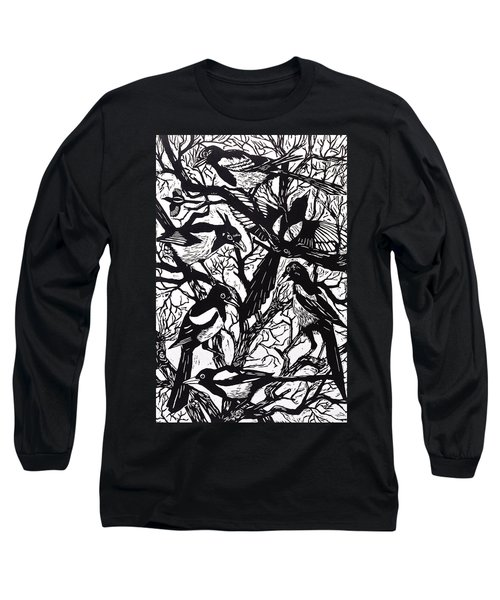 Magpies Long Sleeve T-Shirt by Nat Morley