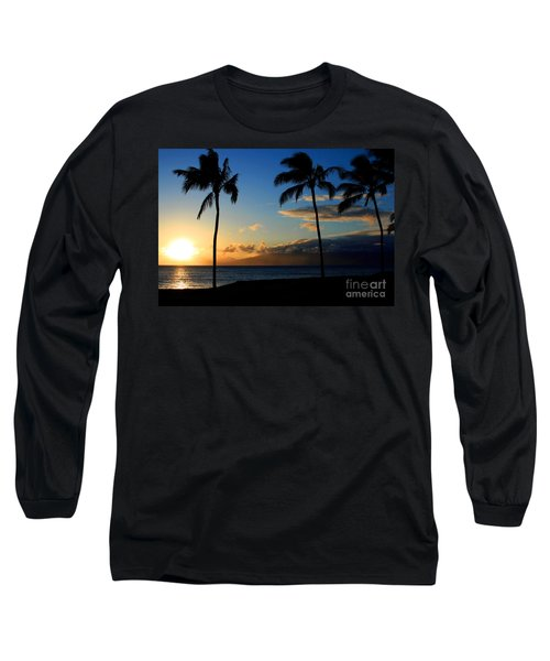 Mai Ka Aina Mai Ke Kai Kaanapali Maui Hawaii Long Sleeve T-Shirt by Sharon Mau