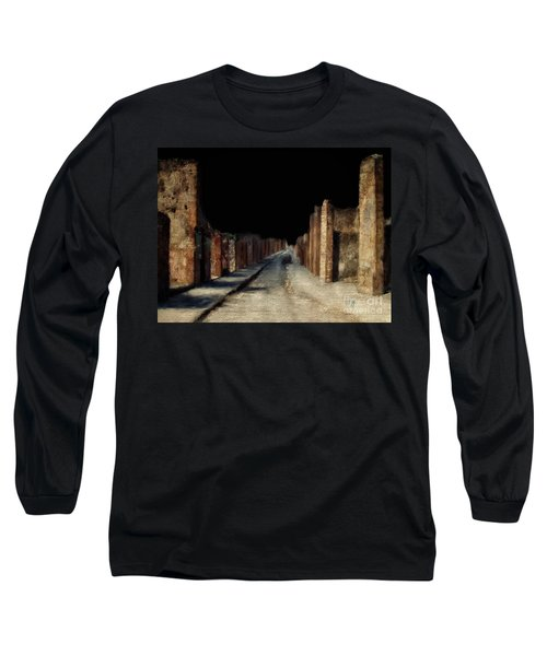 Main Street, Pompeii Long Sleeve T-Shirt by Lois Bryan