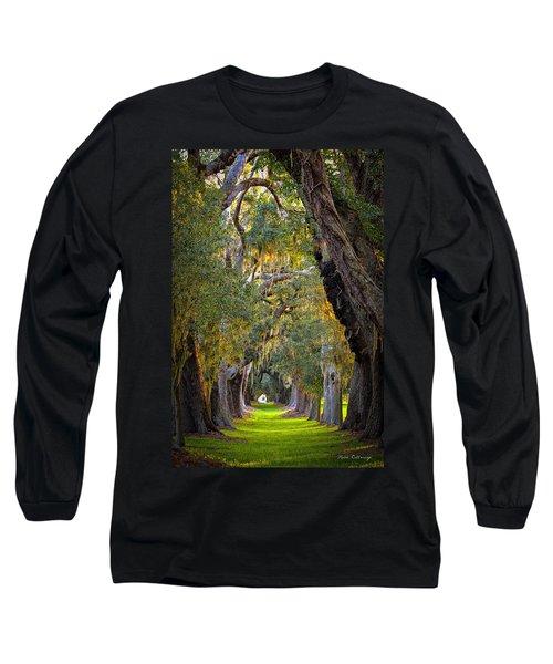 Majestic Ave Of Oaks St Simons Island Ga Tree Art Long Sleeve T-Shirt