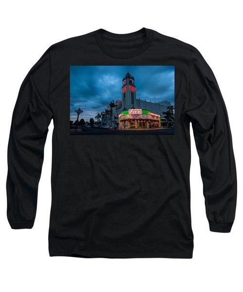 Majestic Fox Theater Sunset Stormy Night Long Sleeve T-Shirt