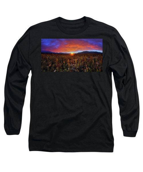 Majestic Sunset Over Cades Cove In Smoky Mountains National Park Long Sleeve T-Shirt
