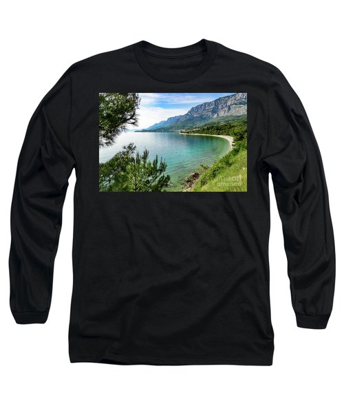 Makarska Riviera White Stone Beach, Dalmatian Coast, Croatia Long Sleeve T-Shirt