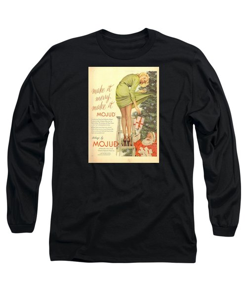 Long Sleeve T-Shirt featuring the digital art Make It Merry...make It Mojud by Reinvintaged