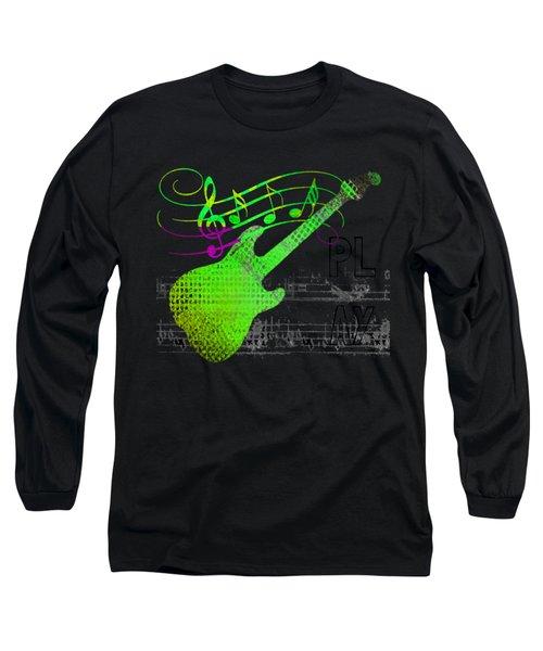 Long Sleeve T-Shirt featuring the digital art Making Music by Guitar Wacky