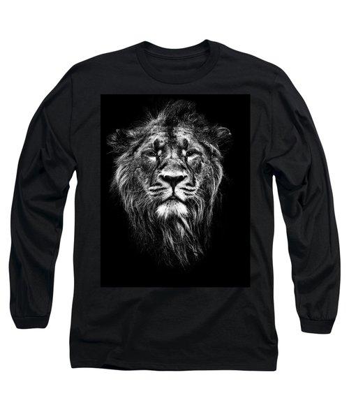 Male Asiatic Lion Long Sleeve T-Shirt