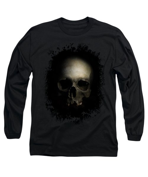 Long Sleeve T-Shirt featuring the photograph Male Skull by Jaroslaw Blaminsky