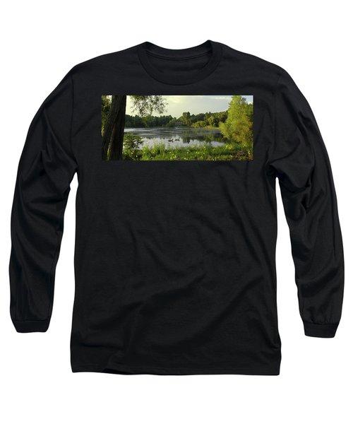 Mallards Lake II Long Sleeve T-Shirt by Doug Kreuger