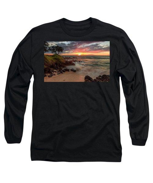 Maluaka Beach Sunset Long Sleeve T-Shirt