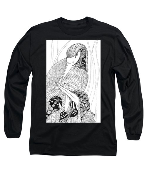 Mama Heron Long Sleeve T-Shirt