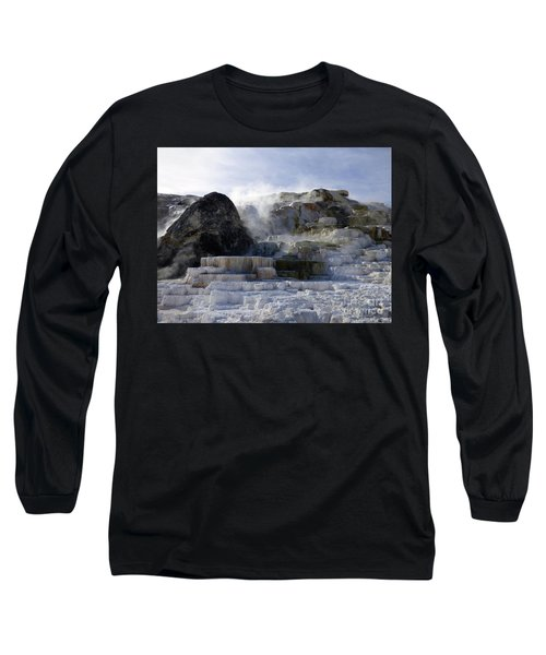 Mammoth Hot Springs Terraces Long Sleeve T-Shirt