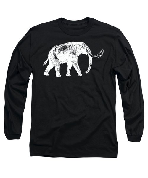 Mammoth White Ink Tee Long Sleeve T-Shirt by Edward Fielding