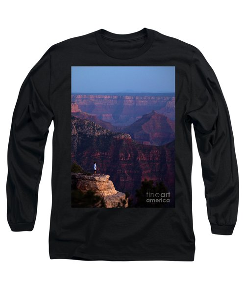 Man Standing On The Edge Long Sleeve T-Shirt
