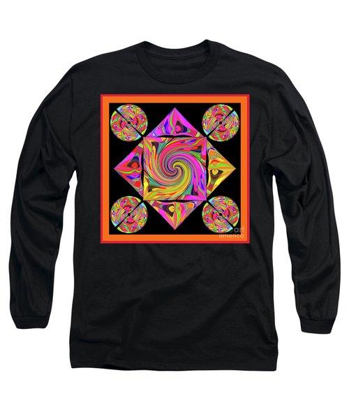 Long Sleeve T-Shirt featuring the digital art Mandala #50 by Loko Suederdiek