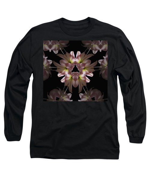 Long Sleeve T-Shirt featuring the digital art Mandala Amarylis by Nancy Griswold