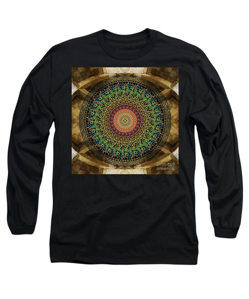 Mandala Armenian Alphabet Long Sleeve T-Shirt