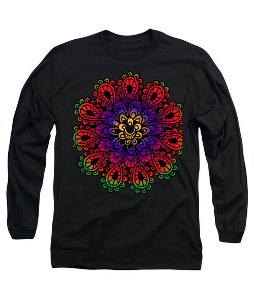 Mandala By Lamplight Long Sleeve T-Shirt