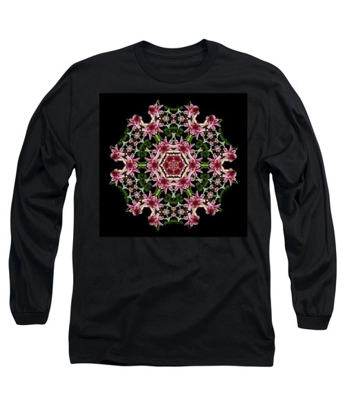 Long Sleeve T-Shirt featuring the photograph Mandala Monadala  Lisa by Nancy Griswold