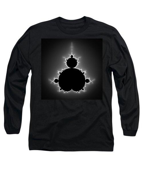 Mandelbrot Set Black And White Fractal Art Long Sleeve T-Shirt