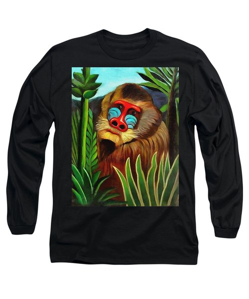 Mandrill In The Jungle Long Sleeve T-Shirt