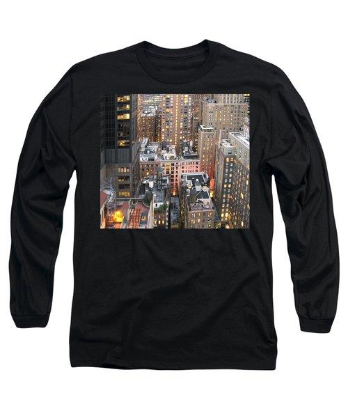 Manhattan At Dusk Long Sleeve T-Shirt