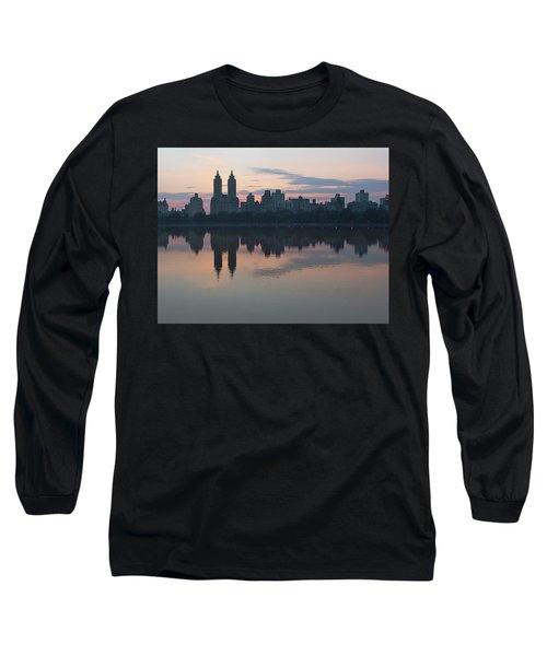 Manhattan At Night  Long Sleeve T-Shirt by Yvonne Wright