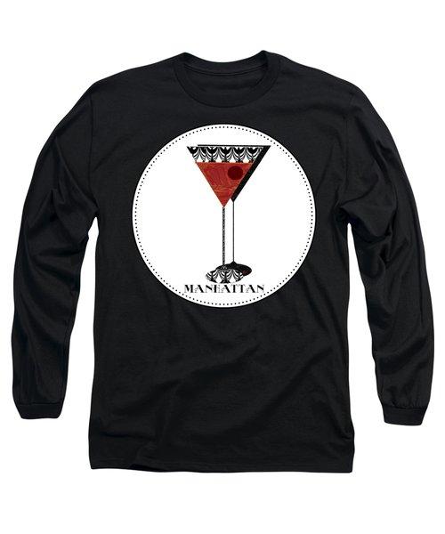 Manhattan Cocktail Pop Art Deco Long Sleeve T-Shirt