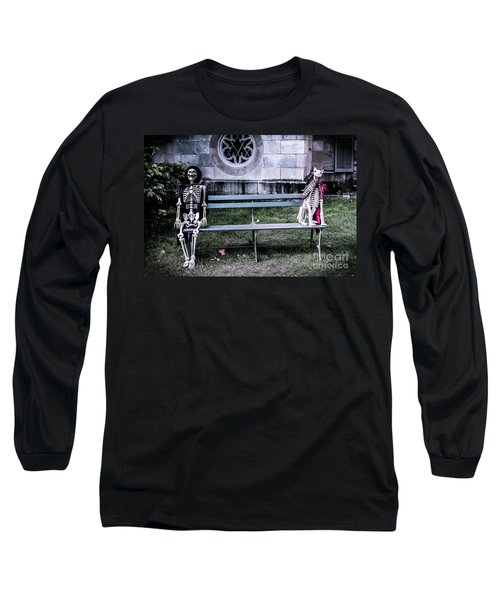 Long Sleeve T-Shirt featuring the photograph Man's Best Friend Till The End by Colleen Kammerer