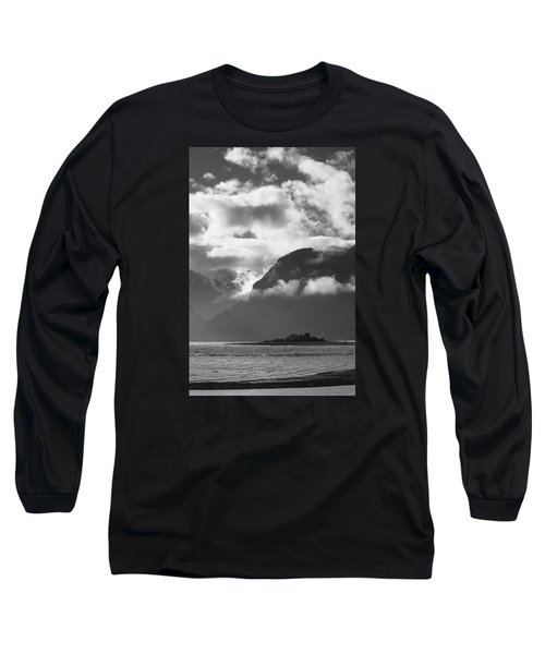 Many Moods Of Pyramid Island Long Sleeve T-Shirt by Michele Cornelius