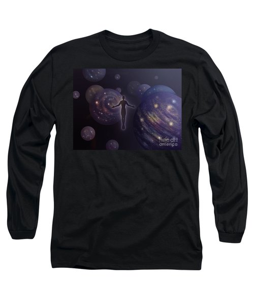 Many Worlds Long Sleeve T-Shirt by Amyla Silverflame