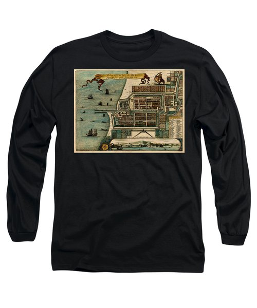 Map Of Java 1669 Long Sleeve T-Shirt by Andrew Fare