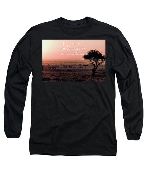 Long Sleeve T-Shirt featuring the photograph Mara Pink Dawn  by Karen Lewis