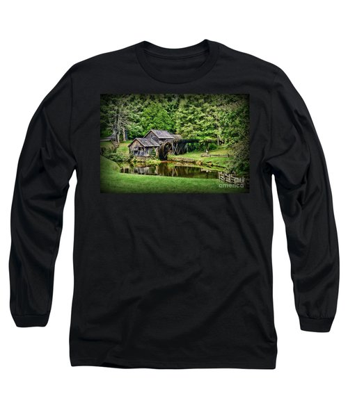 Long Sleeve T-Shirt featuring the photograph Marby Mill Landscape by Paul Ward