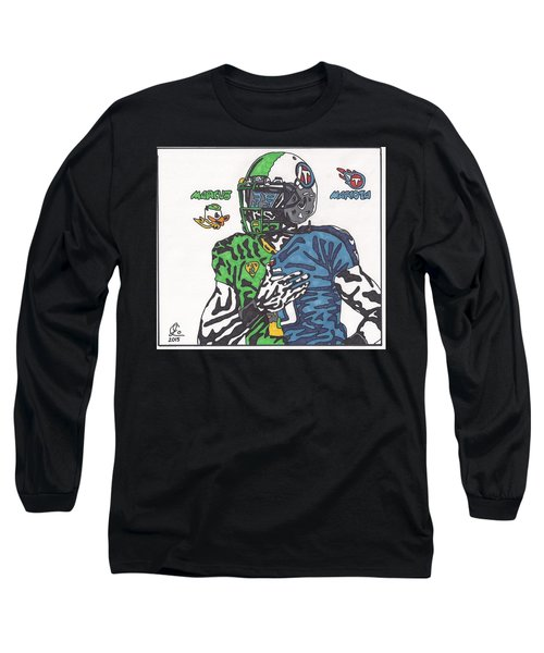 Marcus Mariota Crossover Long Sleeve T-Shirt by Jeremiah Colley