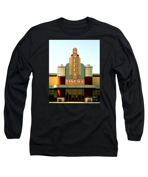 Long Sleeve T-Shirt featuring the photograph Marcus Renaissance Cinema, Racine Wisconsin  by Ricky L Jones