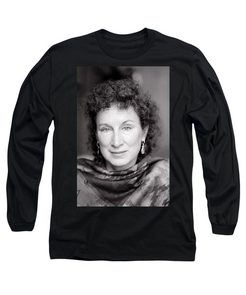 Margaret Atwood Long Sleeve T-Shirt by Shaun Higson