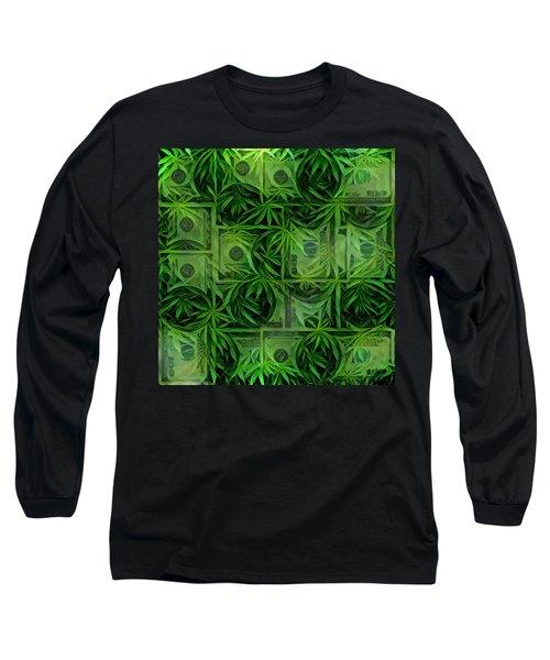 Marijuana Dollars Long Sleeve T-Shirt
