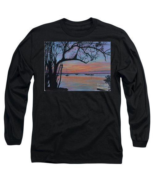 Marsh Harbour At Sunset Long Sleeve T-Shirt
