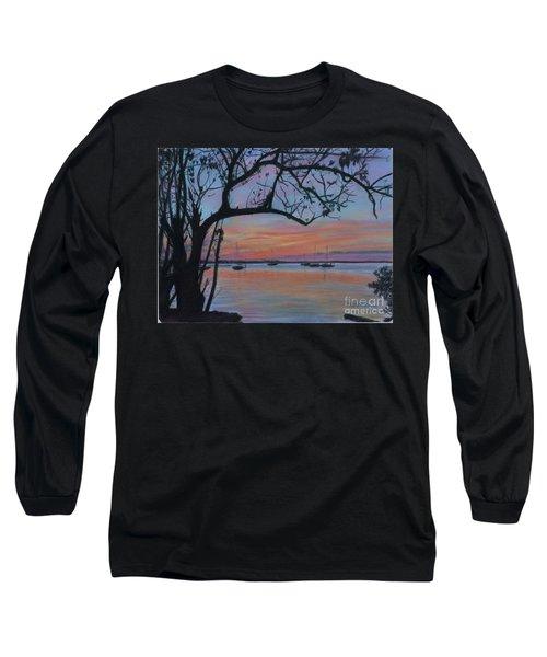 Marsh Harbour At Sunset Long Sleeve T-Shirt