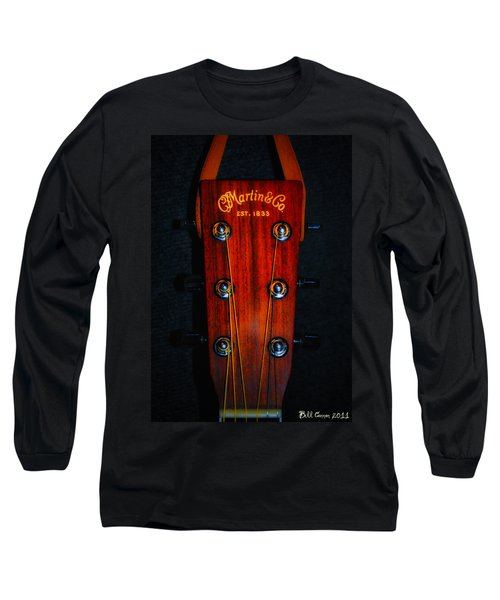 Long Sleeve T-Shirt featuring the photograph Martin And Co. Headstock by Bill Cannon