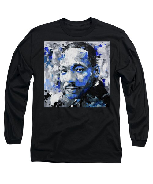 Long Sleeve T-Shirt featuring the painting Martin Luther King Jr by Richard Day