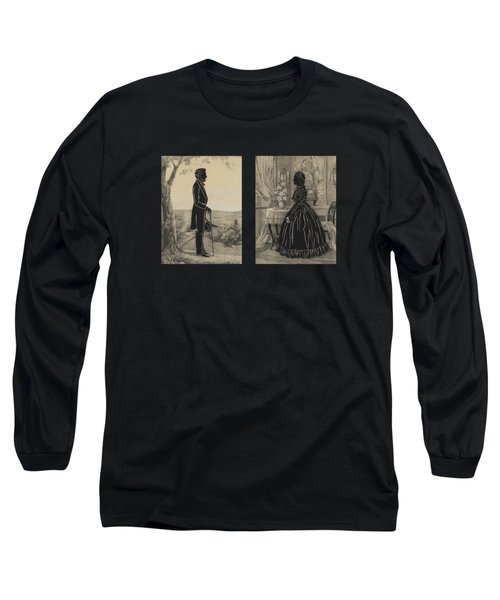 Mary Todd And Abraham Lincoln Silhouettes Long Sleeve T-Shirt