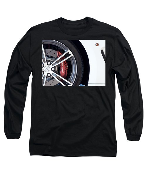 Maserati Wheel White Long Sleeve T-Shirt