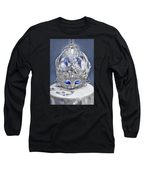 Mask Still Life Blue Long Sleeve T-Shirt