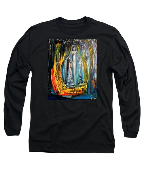 Long Sleeve T-Shirt featuring the painting Matrimony  by Kicking Bear  Productions