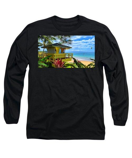 Maui Kamaole Beach Long Sleeve T-Shirt by Michael Rucker